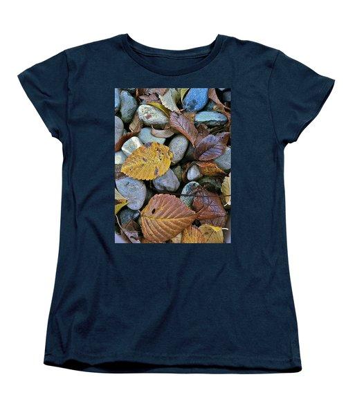 Rocks And Leaves Women's T-Shirt (Standard Cut) by Bill Owen