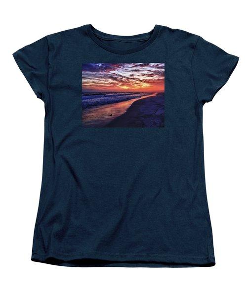 Romar Beach Sunset Women's T-Shirt (Standard Cut) by Michael Thomas