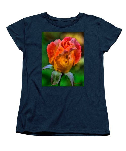 Women's T-Shirt (Standard Cut) featuring the painting Rose by Lynne Jenkins