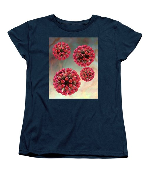 Rubella Virus Particles Women's T-Shirt (Standard Cut) by Russell Kightley