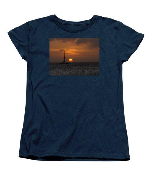 Women's T-Shirt (Standard Cut) featuring the photograph Sailing Away by David Gleeson