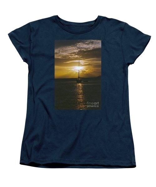 Sailing Sunset Women's T-Shirt (Standard Cut) by William Norton
