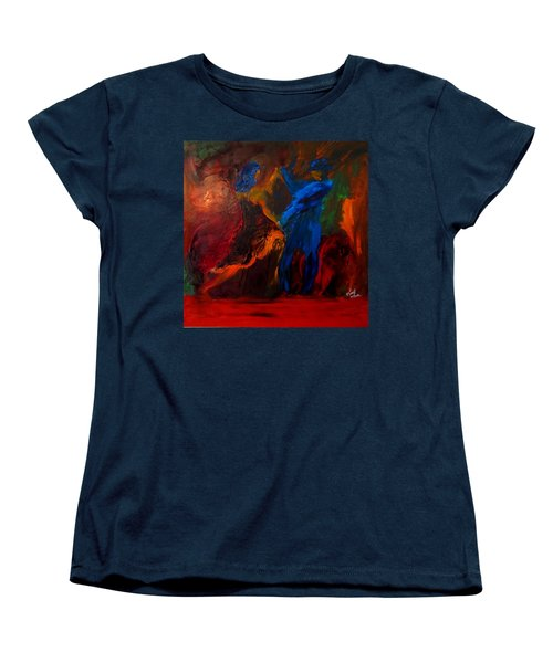 Women's T-Shirt (Standard Cut) featuring the painting Saticha by Keith Thue