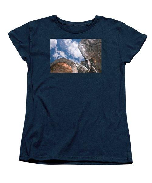 Sculpture And Sky Women's T-Shirt (Standard Cut) by Tom Gort