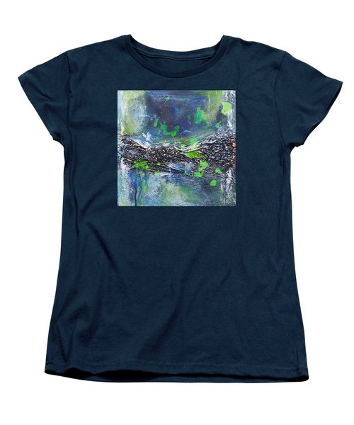 Women's T-Shirt (Standard Cut) featuring the painting Sea World by Nicole Nadeau