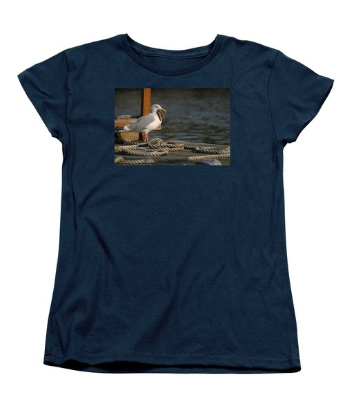 Women's T-Shirt (Standard Cut) featuring the photograph Seagull Swallows Starfish by Kym Backland