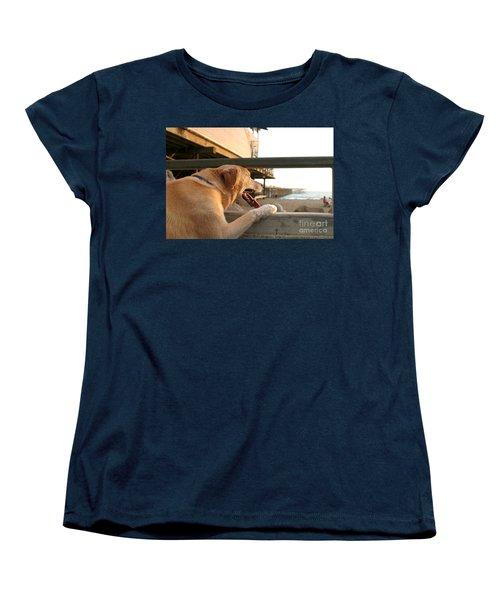Searching The Ocean Women's T-Shirt (Standard Cut) by Henrik Lehnerer