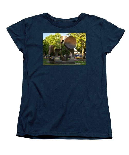 Women's T-Shirt (Standard Cut) featuring the photograph Seattle Sculpture by Chalet Roome-Rigdon