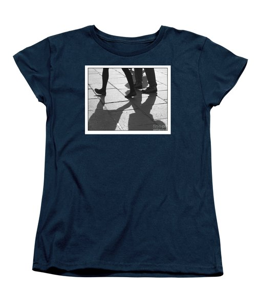 Women's T-Shirt (Standard Cut) featuring the photograph Shadow People by Victoria Harrington