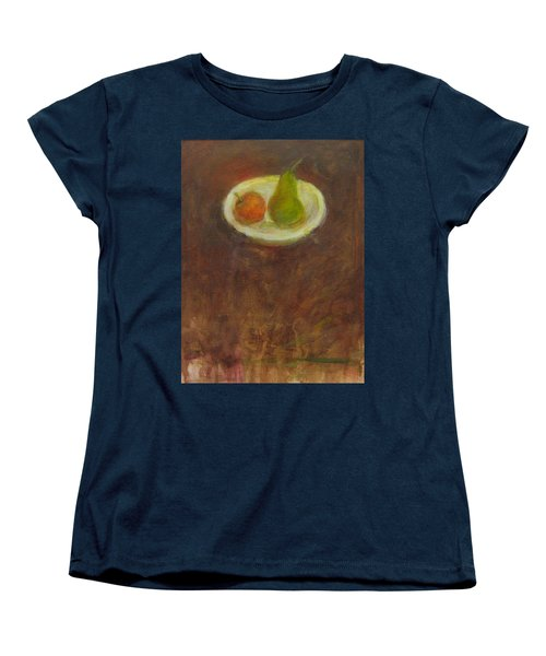 Women's T-Shirt (Standard Cut) featuring the painting Side By Side by Kathleen Grace