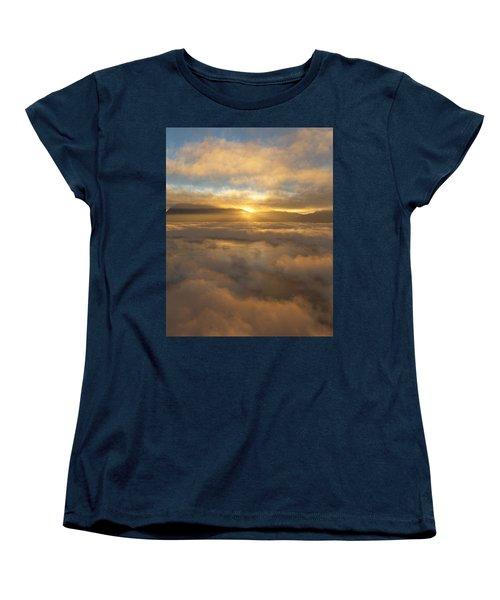 Silver Lake Sunrise Women's T-Shirt (Standard Cut) by Mark Greenberg