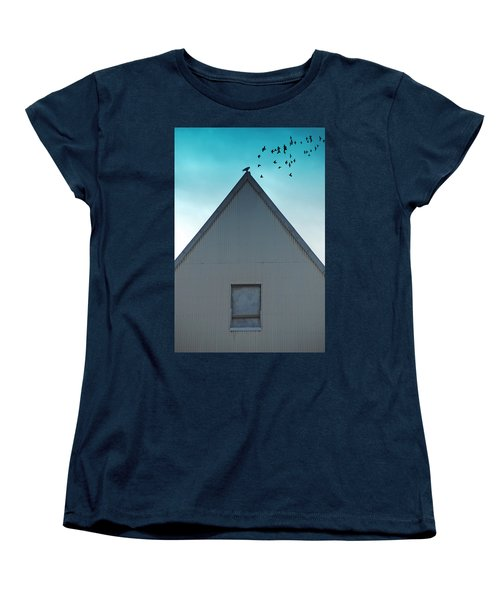 Women's T-Shirt (Standard Cut) featuring the photograph Sitting On The Peak by Kathleen Grace