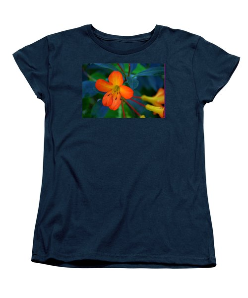 Women's T-Shirt (Standard Cut) featuring the photograph Small Orange Flower by Tikvah's Hope