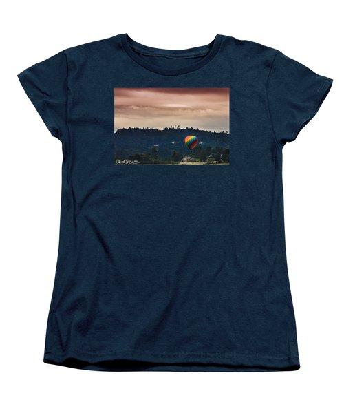 Snohomish Baloon Ride Women's T-Shirt (Standard Cut) by Charlie Duncan