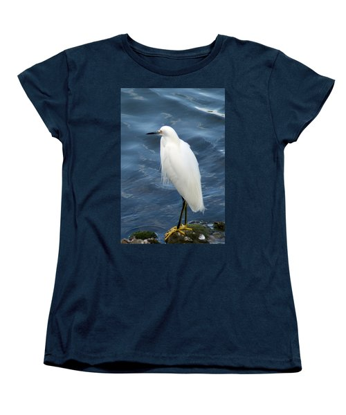 Snowy Egret 1 Women's T-Shirt (Standard Cut) by Joe Faherty