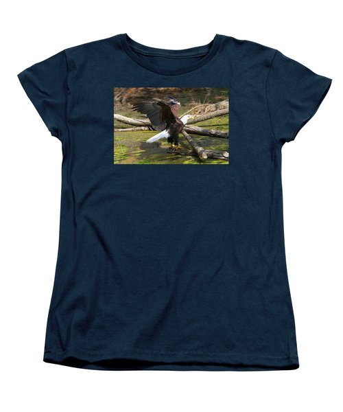 Women's T-Shirt (Standard Cut) featuring the photograph Soaring Eagle by Elizabeth Winter