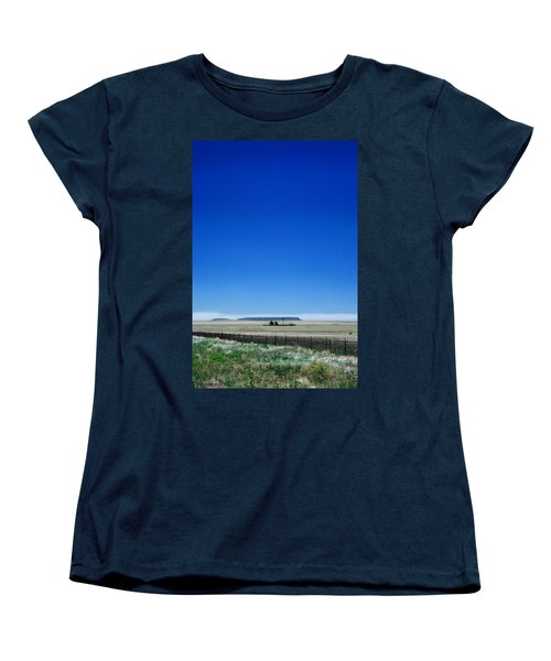 Women's T-Shirt (Standard Cut) featuring the photograph Somewhere On Hwy 285 Number One by Lon Casler Bixby