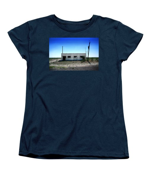 Women's T-Shirt (Standard Cut) featuring the photograph Somewhere On The Old Pecos Highway Number 1 by Lon Casler Bixby