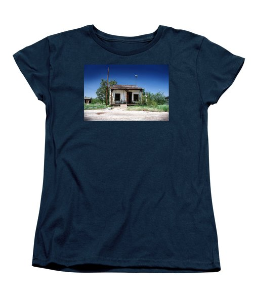 Women's T-Shirt (Standard Cut) featuring the photograph Somewhere On The Old Pecos Highway Number 3 by Lon Casler Bixby