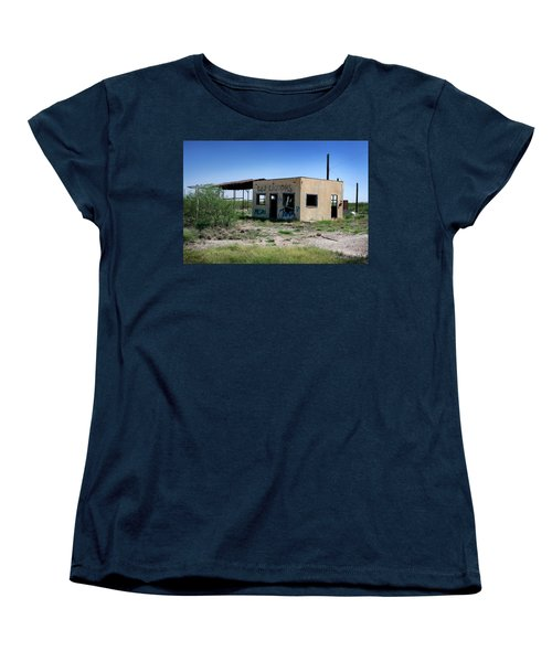 Women's T-Shirt (Standard Cut) featuring the photograph Somewhere On The Old Pecos Highway Number 7 by Lon Casler Bixby