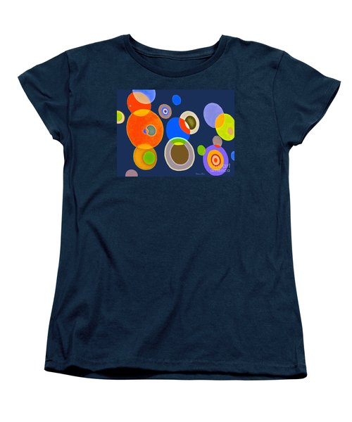 Women's T-Shirt (Standard Cut) featuring the mixed media Somewhere Out There by Beth Saffer