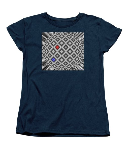 Women's T-Shirt (Standard Cut) featuring the digital art Sphere Number 10 by George Pedro