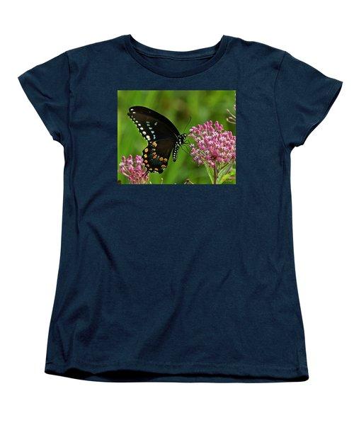 Spicebush Swallowtail Din039 Women's T-Shirt (Standard Cut) by Gerry Gantt