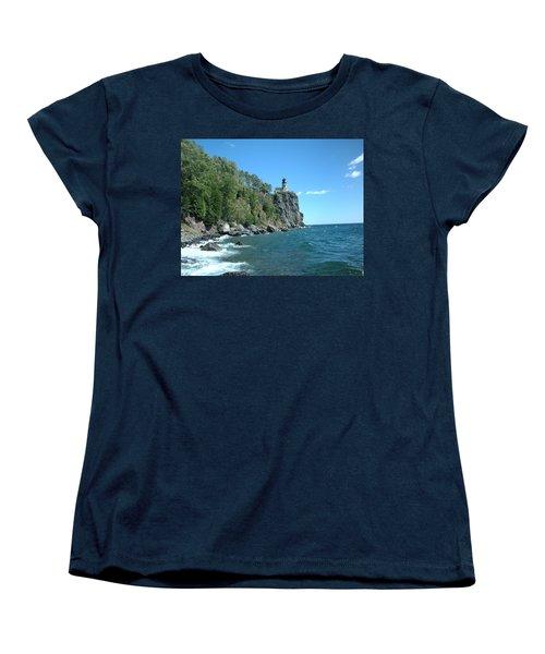 Women's T-Shirt (Standard Cut) featuring the photograph Split Rock by Bonfire Photography