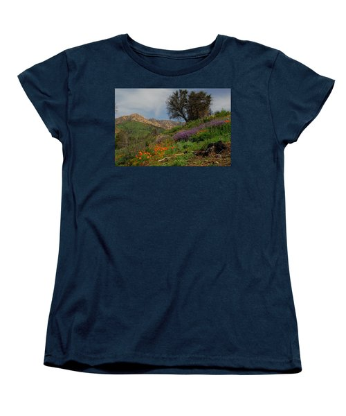Women's T-Shirt (Standard Cut) featuring the photograph Spring In Santa Barbara by Lynn Bauer