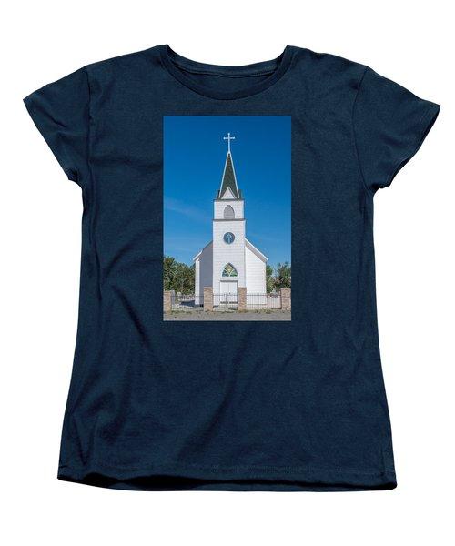 Women's T-Shirt (Standard Cut) featuring the photograph St. John The Evangelist Catholic Church by Fran Riley