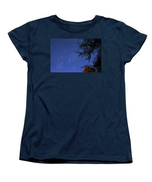Stars Falling Women's T-Shirt (Standard Cut) by Kay Lovingood