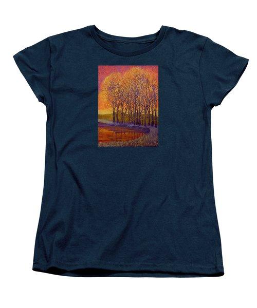 Still Waters Women's T-Shirt (Standard Cut) by Jeanette Jarmon