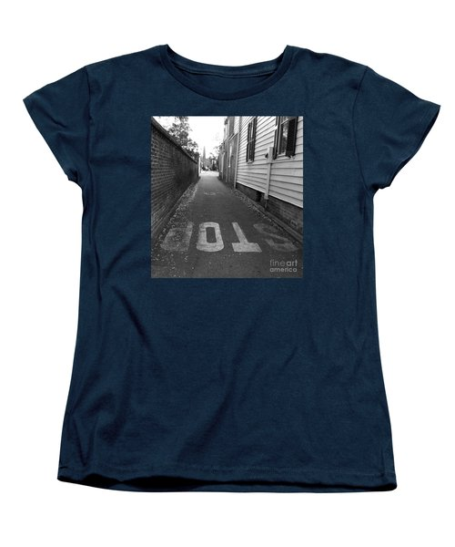 Women's T-Shirt (Standard Cut) featuring the photograph Stop by Andrea Anderegg