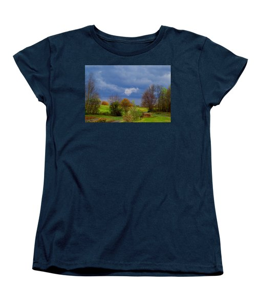 Women's T-Shirt (Standard Cut) featuring the photograph Storm Cell by Kathryn Meyer