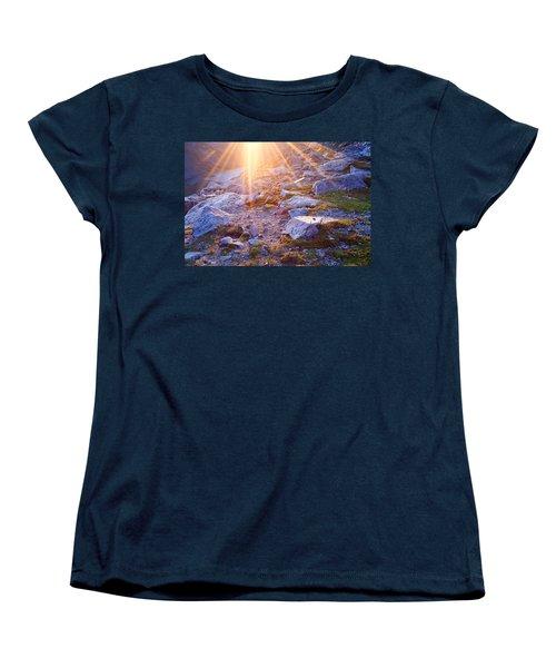 Women's T-Shirt (Standard Cut) featuring the photograph Sunburst Over Abyss Lake by Jim Garrison
