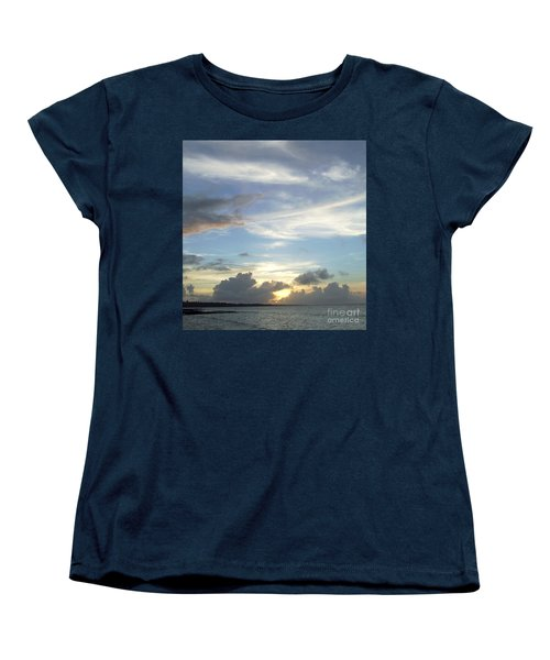 Women's T-Shirt (Standard Cut) featuring the photograph Sunset In Majuro by Andrea Anderegg