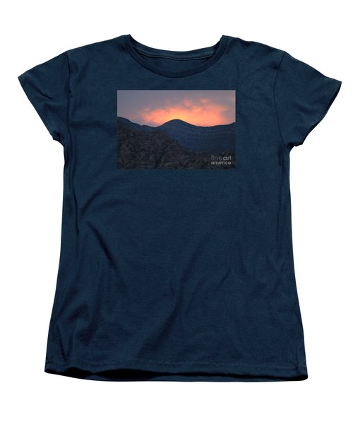 Women's T-Shirt (Standard Cut) featuring the photograph Sunset Over Red Rock by Art Whitton