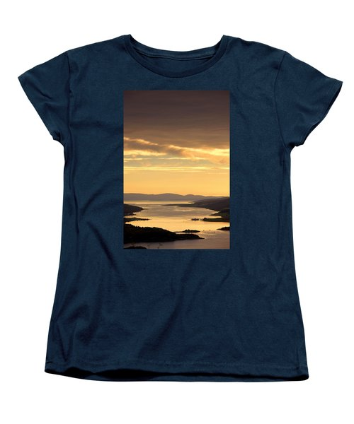 Sunset Over Water, Argyll And Bute Women's T-Shirt (Standard Cut) by John Short