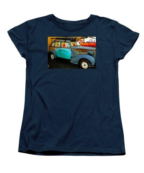 Surf Mobile Women's T-Shirt (Standard Cut) by Mark Gilman