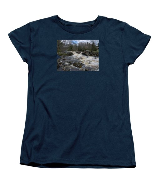Women's T-Shirt (Standard Cut) featuring the photograph Surry Falls by Francine Frank