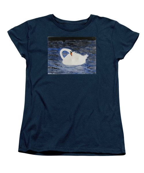 Women's T-Shirt (Standard Cut) featuring the painting Swan  by Sonali Gangane