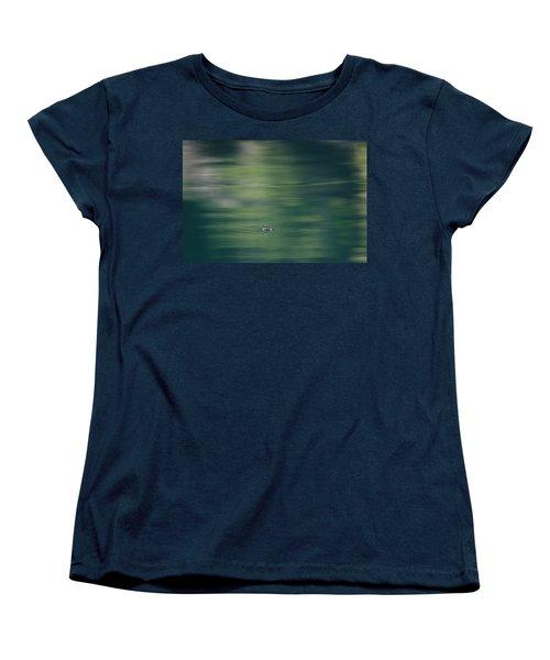Swimming Beetle Women's T-Shirt (Standard Cut) by Cathie Douglas