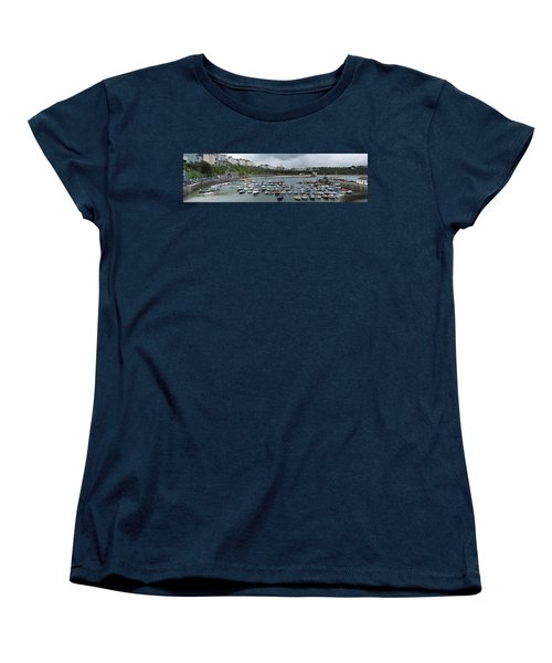 Women's T-Shirt (Standard Cut) featuring the photograph Tenby Harbour Panorama by Steve Purnell