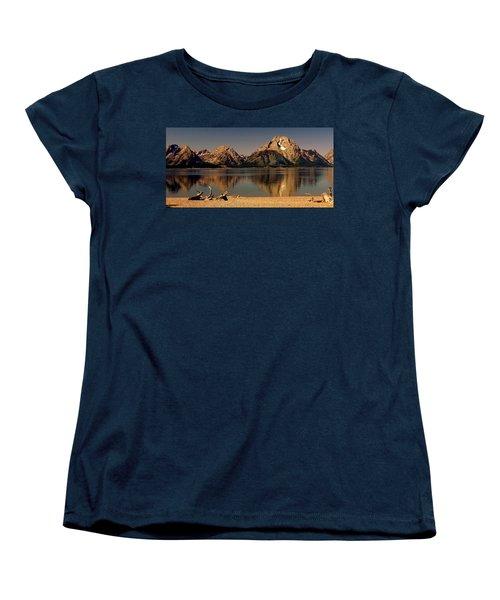 Women's T-Shirt (Standard Cut) featuring the photograph Teton Panoramic by Marty Koch