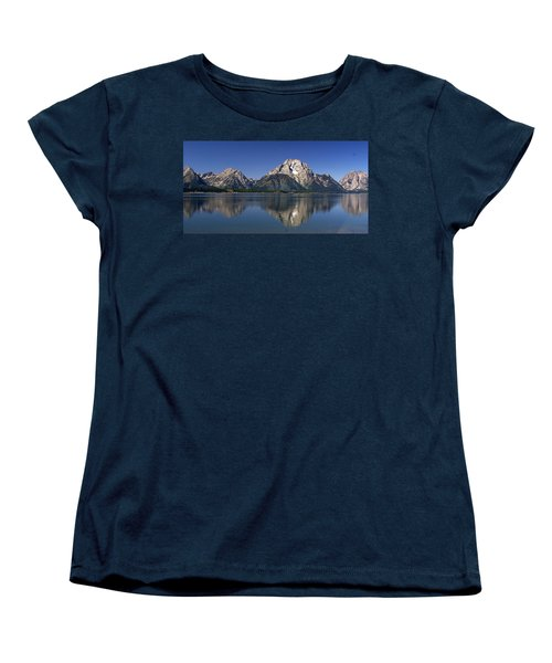 Women's T-Shirt (Standard Cut) featuring the photograph Teton Panoramic View by Marty Koch