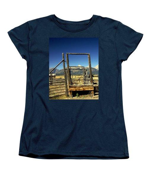 Women's T-Shirt (Standard Cut) featuring the photograph Teton Ranch by Marty Koch