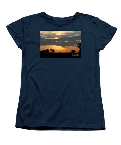 Women's T-Shirt (Standard Cut) featuring the photograph Texas Sized Sunset by Kathy  White