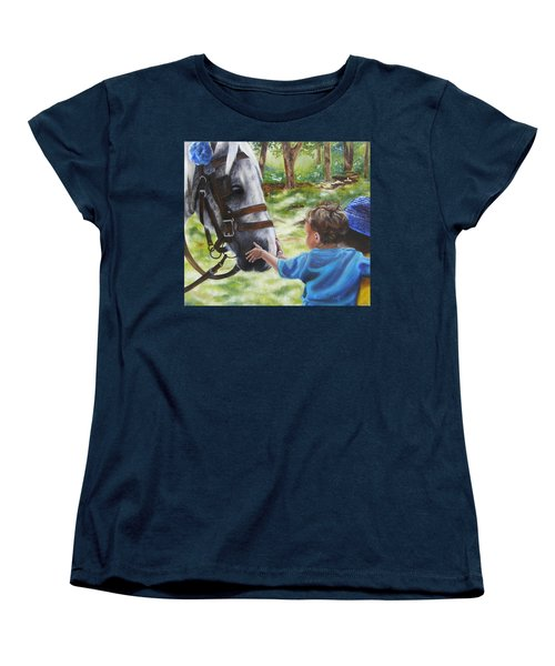 Women's T-Shirt (Standard Cut) featuring the painting Thank You's by Lori Brackett