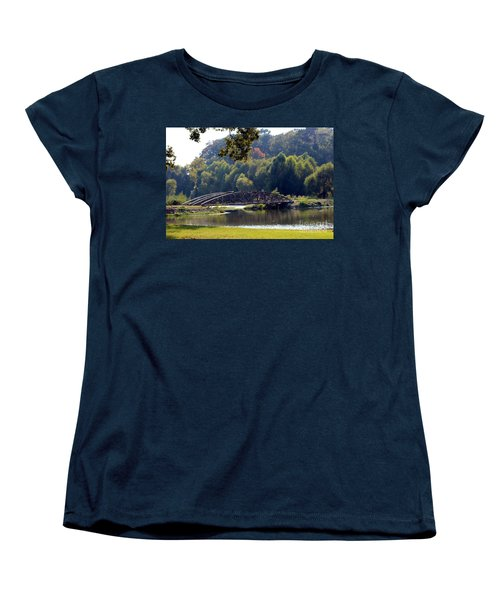 Women's T-Shirt (Standard Cut) featuring the photograph The Bridge by Kathy  White