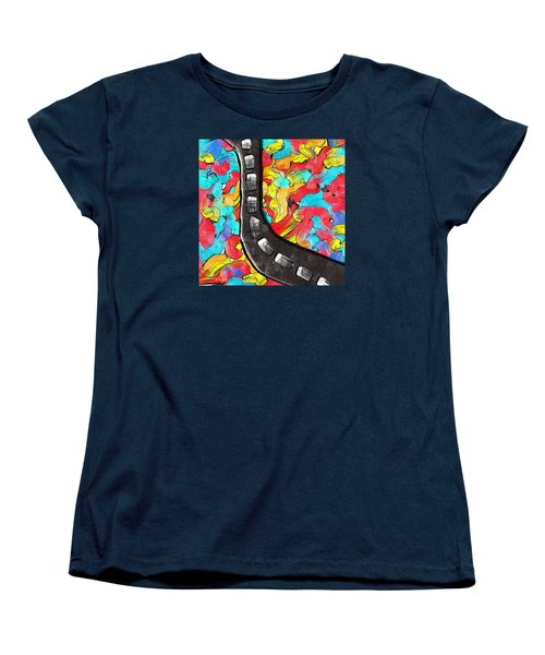 The Color Highway Women's T-Shirt (Standard Cut) by Alec Drake